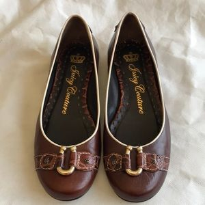 JUICY COUTURE LEATHER BALLET FLATS SIZE 7.5M